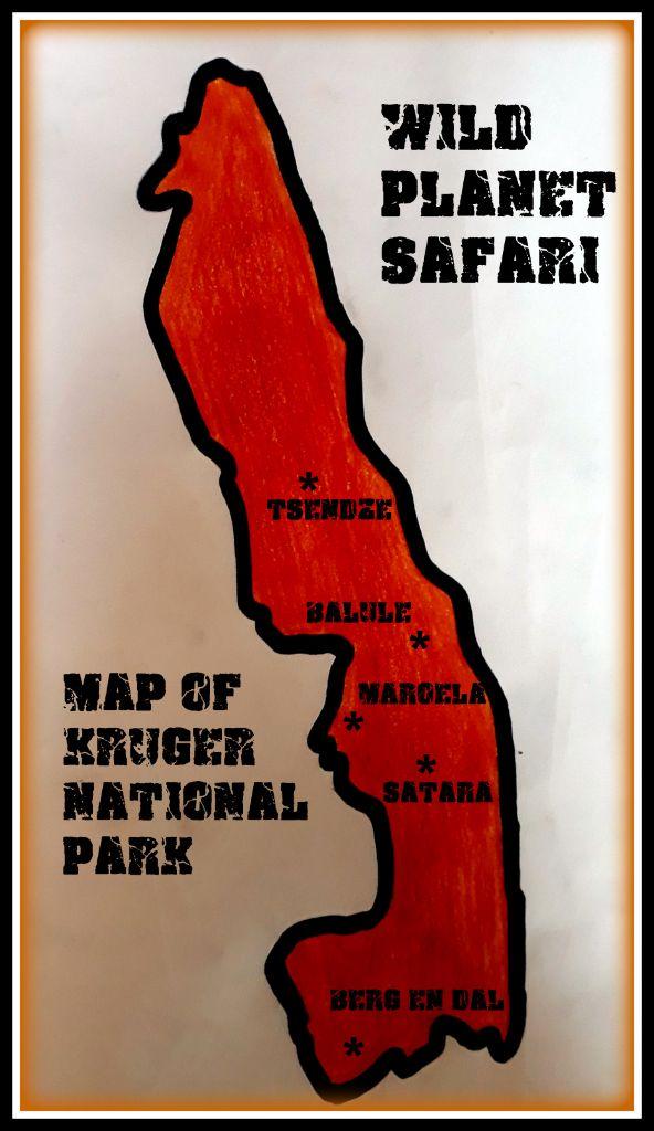 Map of Kruger National Park