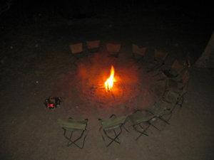 Campfire in Kruger